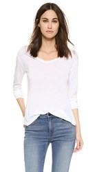 L'agence Long Sleeve Tee White