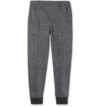 Wooyoungmi Tapered Space Dyed Jersey Trousers Gray