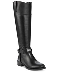 Inc International Concepts Women's Fabbaa Tall Wide Calf Boots Only At Macy's Women's Shoes Black