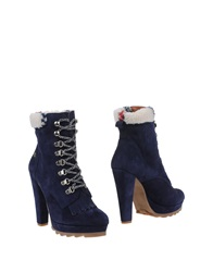 Cuple Ankle Boots Dark Blue