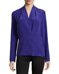 Nicole Miller Solid Top Enzyme Cdc Ultra Blue