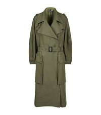 Burberry Runway Oversized Military Trench Coat Female Khaki