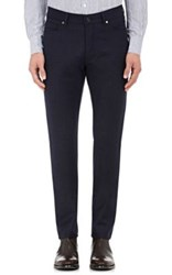 Ermenegildo Zegna Men's Stretch Wool Five Pocket Pants Navy