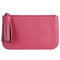 John Lewis Rosa Leather Coin Tassel Purse Pink Passion
