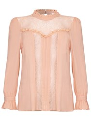 Ghost Edna Blouse Pink Sand