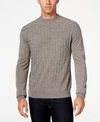 Weatherproof Vintage Men's Big And Tall Crew Neck Sweater Only At Macy's Medium Grey Heather