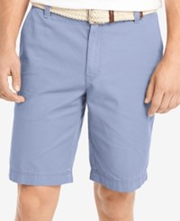 Izod Big And Tall Saltwater Flat Front Shorts Chambray Blue