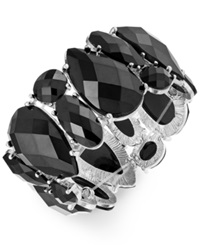 Style And Co. Silver Tone Black Cabochon Bracelet