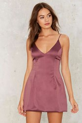 Satin A Good Way Mini Dress Purple