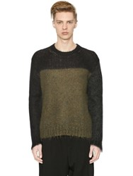 Marni Color Block Wool Mohair Sweater