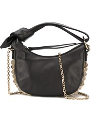 Borbonese Studded Small Shoulder Bag Black