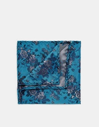 Noose And Monkey Floral Pocket Square Green