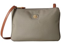 Lauren Ralph Lauren Tara Crossbody New Khaki Cross Body Handbags Taupe