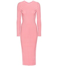 Altuzarra Gramm Sweater Ribbed Dress Pink