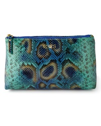 Graphic Image Blue Python Print Cosmetic Case