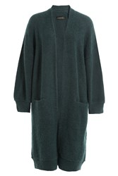 By Malene Birger Wool Mohair Open Front Cardigan Green