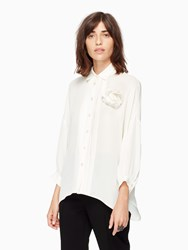 Kate Spade Silk Alyssa Top French Cream