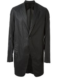 Rick Owens Single Breasted Coat Black