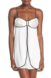 Women's Kate Spade New York Contrast Piping Satin Chemise
