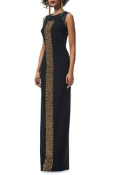 Theia Women's Embellished Sleeveless Column Gown