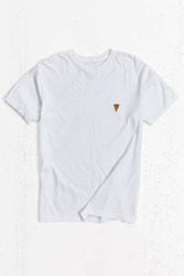 Urban Outfitters Embroidered Pizza Tee White