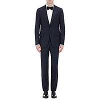 Isaia Men's Two Button Gregory Suit Navy