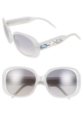 Swarovski Women's Oversized Oval Sunglasses White