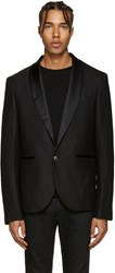 Balmain Pierre Black Single Button Blazer