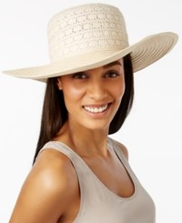 August Hats Lace Toyo Floppy Hat Natural