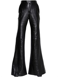 Ellery Flared Nappa Leather And Wool Pants