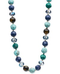 Lonna And Lilly Gold Tone Beaded Collar Necklace Multi
