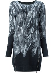 Diesel Feather Motif Sweater Dress Black