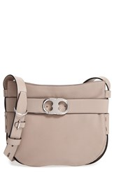 Tory Burch Small Gemini Belted Leather Hobo Grey French Gray