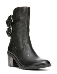 Fergie Wistful Leather Ankle Boots Black