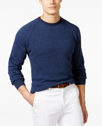 Ryan Seacrest Distinction Honeycomb Raglan Crew Sweater Only At Macy's Marine