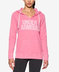 Under Armour Favorite Fleece Logo Pullover Hoodie Rebel Pink
