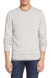 1901 Melange Knit Merino Wool And Cashmere Sweater Gray