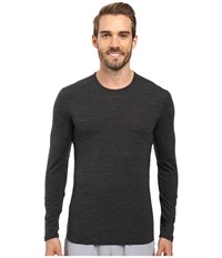 Icebreaker Anatomica Long Sleeve Crewe Jet Heather Black Jet Heather Men's T Shirt