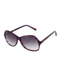 Dita Lotus Round Sunglasses Deep Lavender Purple