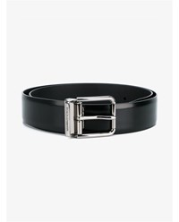 Dolce And Gabbana Classic Leather Belt Black White