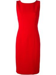 Capucci Back Bow Detail Dress Red