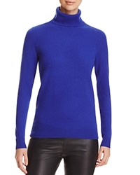 Bloomingdale's C By Cashmere Turtleneck Sweater Cobalt