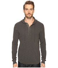 Lucky Brand Lived In Thermal Hoodley Black Mountain Men's Clothing