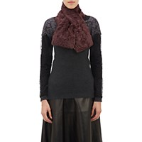 Barneys New York Women's Fur Pull Through Scarf Burgundy