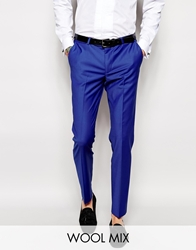 Noose And Monkey Suit Trousers In Skinny Fit Cobaltblue
