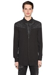 Marcelo Burlon Hoyada Printed Cotton Oxford Shirt