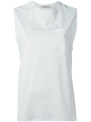 T By Alexander Wang Crew Neck Vest White