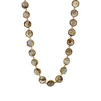 Irene Neuwirth Women's Gemstone Circular Link Necklace Gold Green No Color Gold Green No Color