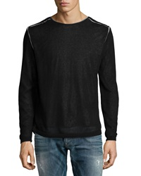 John Varvatos Double Layer Crewneck Sweater Black