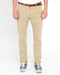 Scotch And Soda Beige Stuart Slim Fit Chinos